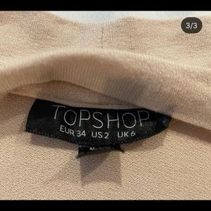 Nude top from Top Shop